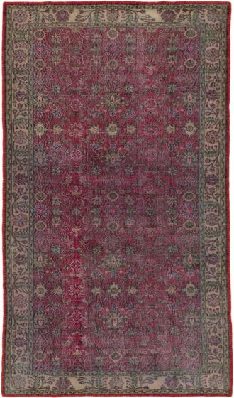 Traditional Red Area rug 6x9 Turkish Hand-knotted 163869