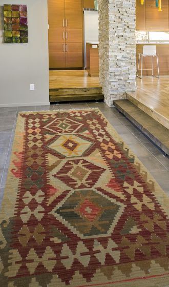 Flat-weaves & KilimsTraditional Red Area rug 3x5 Turkish Flat-weave 198138