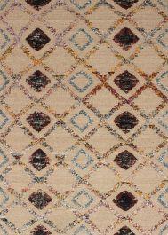 Indian Sari Silk 5 4 X 7 6 Hand Knotted Silk Wool Ivory Rug Ecarpetgallery