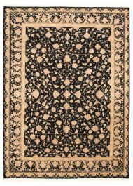 Chinese Sino Persian 180l 8 9 X 11 9 Hand Knotted Silk Wool Black Rug Ecarpetgallery