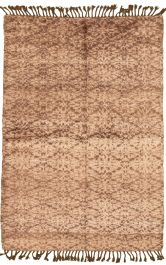 Indian Tangier 5 3 X 7 7 Hand Knotted Wool Tan Rug Ecarpetgallery