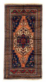 Vintage Rug 5.1x7.1 Turkish Red Vintage Low Pile Faded Boho Decor Bedroom Anatolian Safavieh Beni Ourain Tribal Nursery Handwoven Wool Kilim