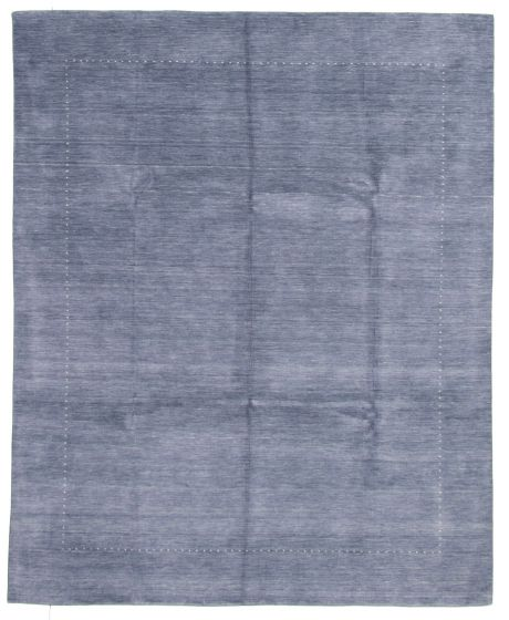 Gabbeh  Tribal Blue Area rug 6x9 Indian Hand-knotted 331258
