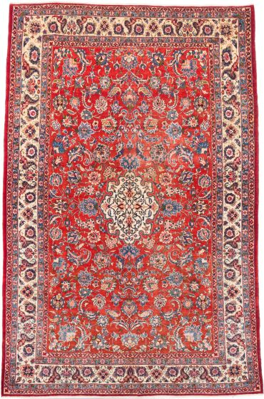 Traditional Brown Area rug 9x12 Persian Hand-knotted 206270