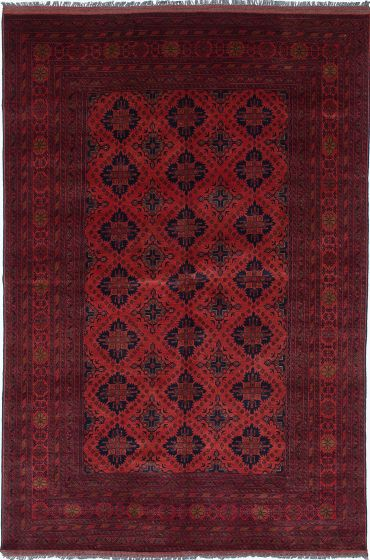 Traditional Brown Area rug 6x9 Afghan Hand-knotted 222385