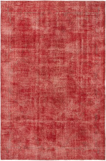 Bordered  Transitional Red Area rug 6x9 Turkish Hand-knotted 295864