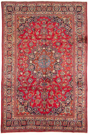Bordered  Vintage Red Area rug 6x9 Persian Hand-knotted 310141