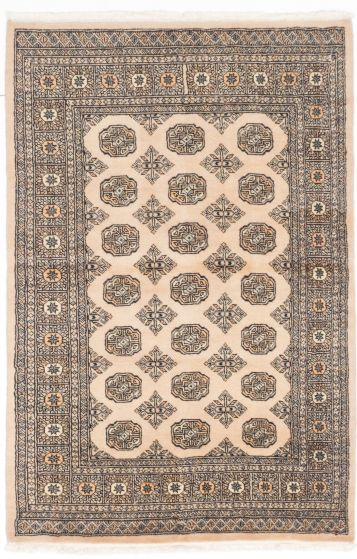 Traditional Yellow Area rug 3x5 Pakistani Hand-knotted 205012