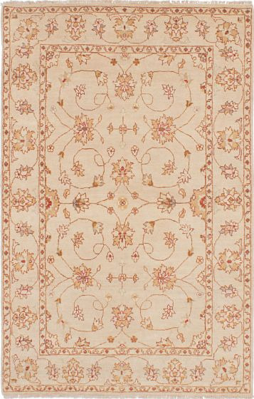 Traditional Yellow Area rug 3x5 Indian Hand-knotted 223859