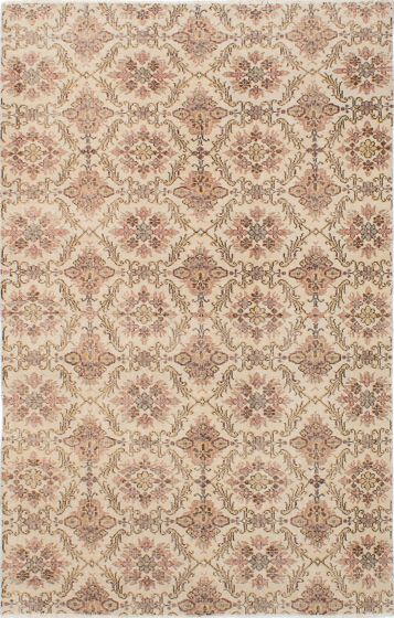 Traditional Ivory Area rug 5x8 Turkish Hand-knotted 231787