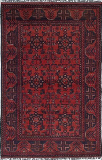 Traditional Brown Area rug 3x5 Afghan Hand-knotted 236281