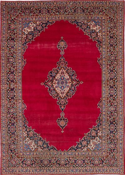Vintage Red Area rug 9x12 Persian Hand-knotted 206144