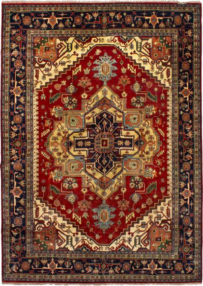 Bohemian  Traditional Red Area rug 10x14 Indian Hand-knotted 271175