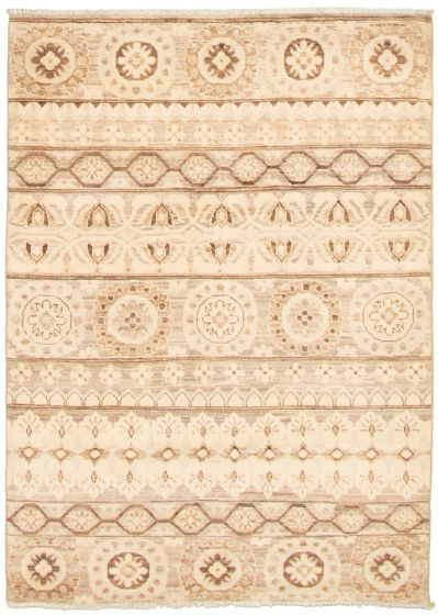 Casual  Transitional Ivory Area rug 3x5 Pakistani Hand-knotted 338986
