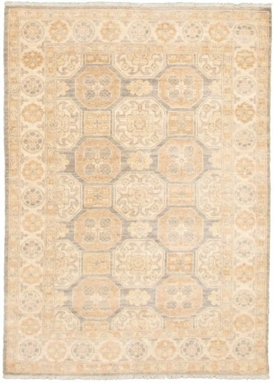 Bordered  Traditional Ivory Area rug 3x5 Pakistani Hand-knotted 338991