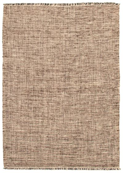 Flat-weaves & Kilims  Transitional Brown Area rug 5x8 Turkish Flat-weave 344553