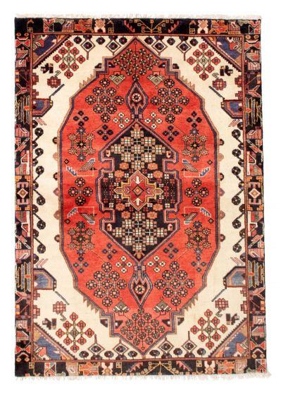 Bordered  Traditional Red Area rug 3x5 Persian Hand-knotted 352177