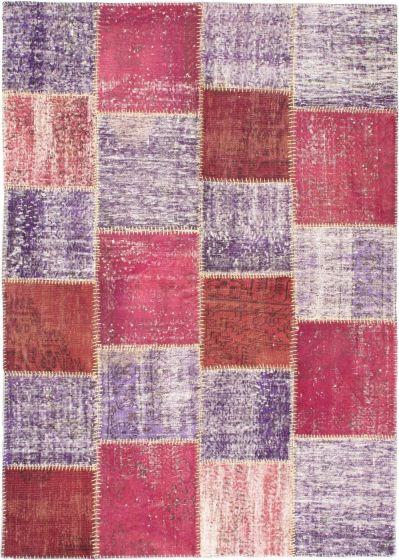 Transitional Purple Area rug 5x8 Turkish Handmade 56394