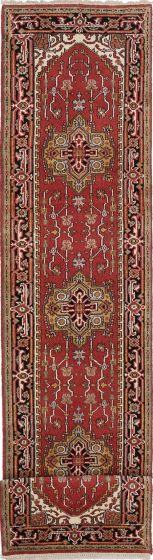 Floral  Traditional Orange Runner rug 16-ft-runner Indian Hand-knotted 218582
