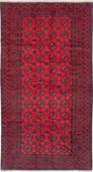 Traditional Red Area rug 5x8 Afghan Hand-knotted 226857