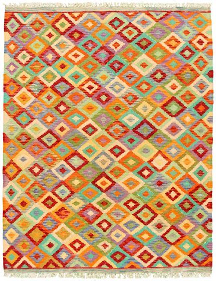 Flat-weaves & Kilims  Geometric Multi Area rug 4x6 Turkish Flat-weave 330215