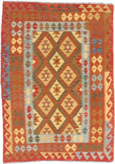 Flat-weaves & Kilims  Traditional Orange