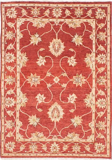 Traditional Red Area rug 3x5 Indian Hand-knotted 223852
