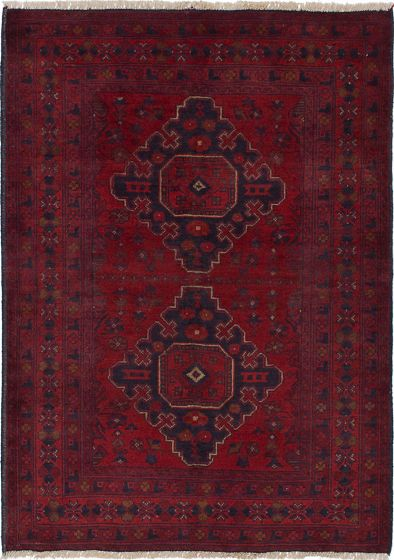 Geometric  Tribal Red Area rug 3x5 Afghan Hand-knotted 236135