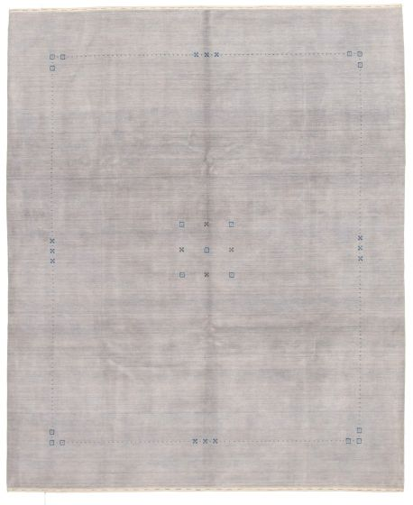 Gabbeh  Tribal Grey Area rug 6x9 Indian Hand-knotted 331261