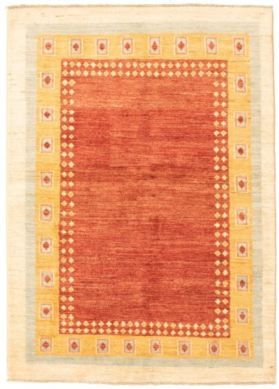 Bordered  Transitional Brown Area rug 3x5 Pakistani Hand-knotted 330353