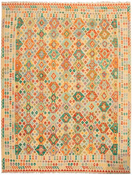 Flat-weaves & Kilims  Geometric Green