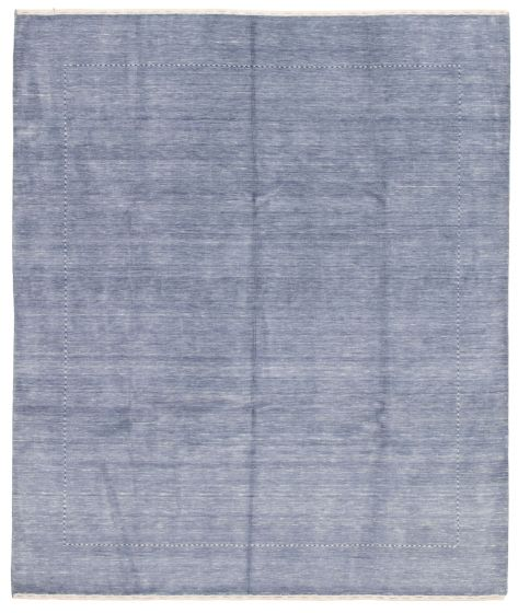 Gabbeh  Tribal Blue Area rug 6x9 Indian Hand-knotted 331504