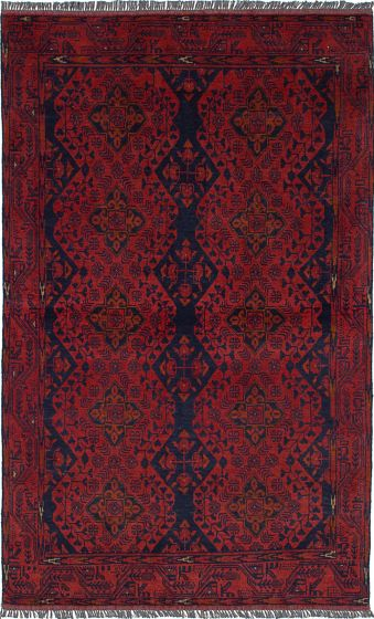 Traditional  Tribal Red Area rug 3x5 Afghan Hand-knotted 236288