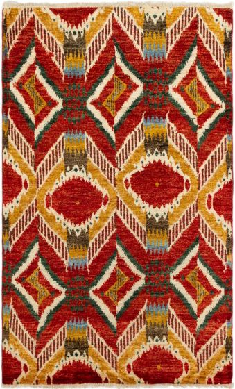 Casual  Transitional Brown Area rug 5x8 Indian Hand-knotted 280004