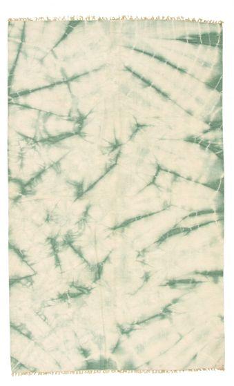 Casual  Overdyed Ivory Area rug 5x8 Turkish Flat-weave 315921