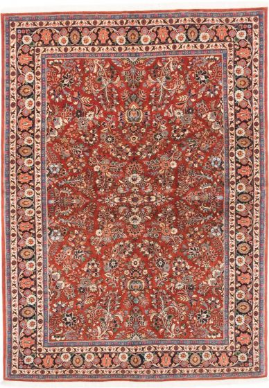 Traditional Orange Area rug 5x8 Persian Hand-knotted 202728