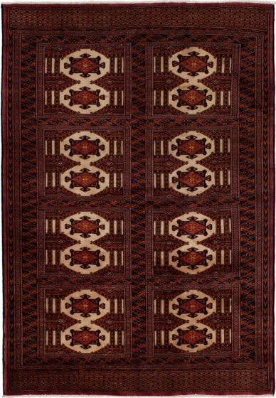 Southwestern  Transitional Red Area rug 3x5 Russia Hand-knotted 273620