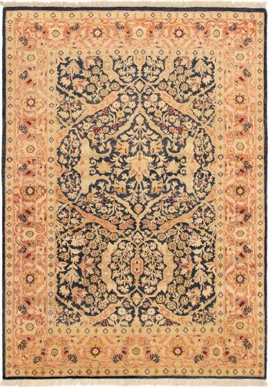 Bordered  Traditional Blue Area rug 5x8 Pakistani Hand-knotted 293038