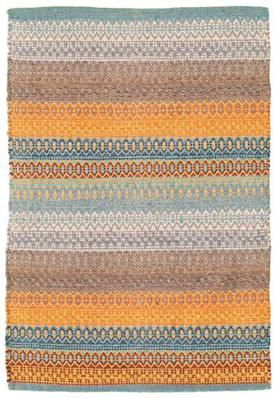 Flat-weaves & Kilims  Transitional Blue Area rug 2x3 Turkish Flat-weave 339207