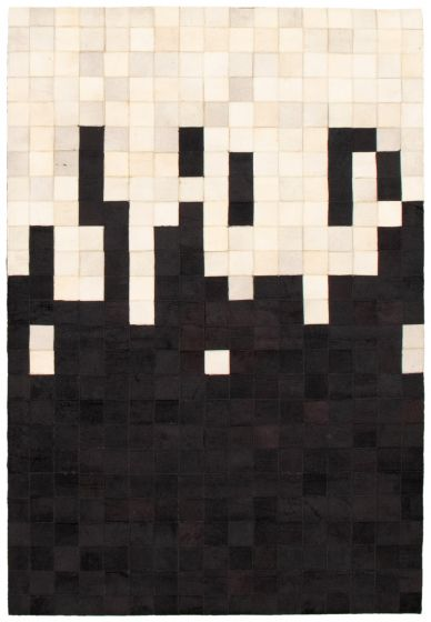 Accent  Transitional Black Area rug 3x5 Argentina Handmade 340289