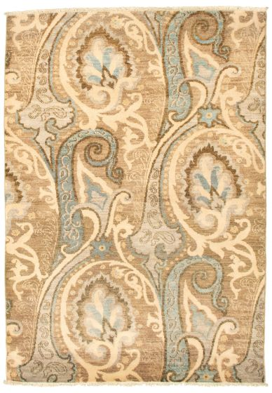 Traditional  Transitional Grey Area rug 3x5 Pakistani Hand-knotted 342168