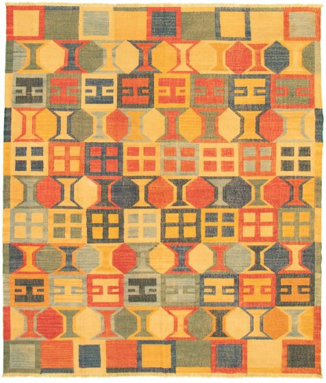 Casual  Transitional Multi Area rug 6x9 Turkish Flat-weave 336025
