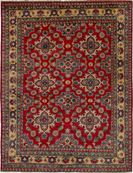 Bohemian  Traditional Red Area rug 4x6 Afghan Hand-knotted 271279