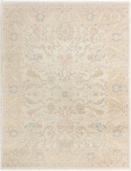 Bordered  Traditional Yellow Area rug 6x9 Turkish Hand-knotted 280774