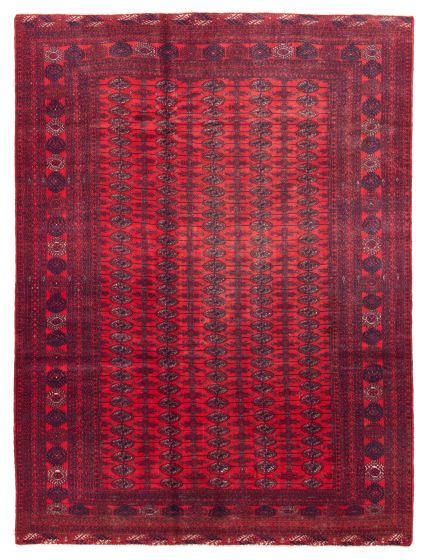 Bordered  Tribal Red Area rug 6x9 Afghan Hand-knotted 342267