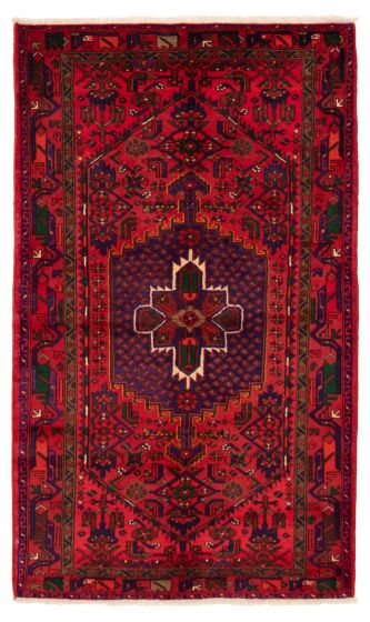 Bordered  Traditional Red Area rug 4x6 Persian Hand-knotted 358633