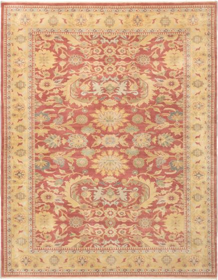 Bordered  Traditional Red Area rug 9x12 Turkish Hand-knotted 280867