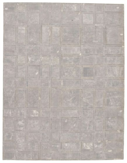 Accent  Transitional Grey Area rug 5x8 Argentina Handmade 340309