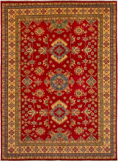 Bordered  Traditional Red Area rug 9x12 Afghan Hand-knotted 272534