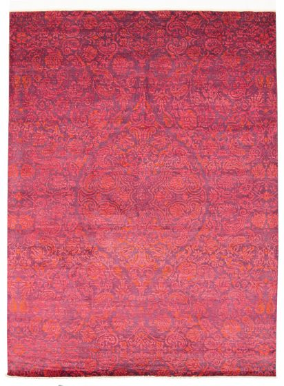 Floral  Transitional Pink Area rug 9x12 Pakistani Hand-knotted 311135